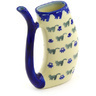 10 oz Stoneware Mug with Straw - Polmedia Polish Pottery H1792G