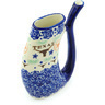 10 oz Stoneware Mug with Straw - Polmedia Polish Pottery H8308H