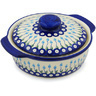 11-inch Stoneware Baker with Cover with Handles - Polmedia Polish Pottery H0805H