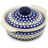 11-inch Stoneware Baker with Cover with Handles - Polmedia Polish Pottery H0960H