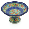 11-inch Stoneware Bowl with Pedestal - Polmedia Polish Pottery H7701I