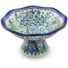 11-inch Stoneware Bowl with Pedestal - Polmedia Polish Pottery H7702I