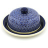11-inch Stoneware Dish with Cover - Polmedia Polish Pottery H0953G