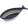 11-inch Stoneware Fish Shaped Platter - Polmedia Polish Pottery H5932K