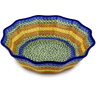 11-inch Stoneware Fluted Bowl - Polmedia Polish Pottery H0202D