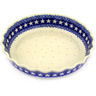 11-inch Stoneware Fluted Pie Dish - Polmedia Polish Pottery H2182F