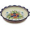 11-inch Stoneware Fluted Pie Dish - Polmedia Polish Pottery H2932H