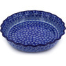 11-inch Stoneware Fluted Pie Dish - Polmedia Polish Pottery H4540D