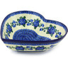 11-inch Stoneware Heart Shaped Bowl - Polmedia Polish Pottery H4251G