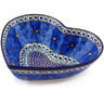 11-inch Stoneware Heart Shaped Bowl - Polmedia Polish Pottery H5103G