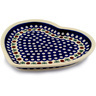 11-inch Stoneware Heart Shaped Platter - Polmedia Polish Pottery H0381D