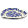 11-inch Stoneware Heart Shaped Platter - Polmedia Polish Pottery H4332J