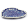11-inch Stoneware Heart Shaped Platter - Polmedia Polish Pottery H4430J