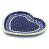 11-inch Stoneware Heart Shaped Platter - Polmedia Polish Pottery H4457J