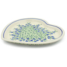 11-inch Stoneware Heart Shaped Platter - Polmedia Polish Pottery H4470J