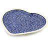 11-inch Stoneware Heart Shaped Platter - Polmedia Polish Pottery H7905A
