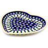 11-inch Stoneware Heart Shaped Platter - Polmedia Polish Pottery H9812C