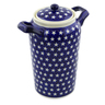 11-inch Stoneware Jar with Lid and Handles - Polmedia Polish Pottery H4358J