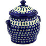 11-inch Stoneware Jar with Lid and Handles - Polmedia Polish Pottery H6026D