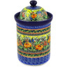 11-inch Stoneware Jar with Lid - Polmedia Polish Pottery H0454E