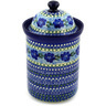 11-inch Stoneware Jar with Lid - Polmedia Polish Pottery H1641D