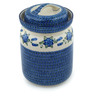 11-inch Stoneware Jar with Lid - Polmedia Polish Pottery H1662I