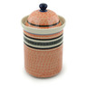 11-inch Stoneware Jar with Lid - Polmedia Polish Pottery H2173C