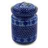 11-inch Stoneware Jar with Lid - Polmedia Polish Pottery H2883A