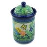 11-inch Stoneware Jar with Lid - Polmedia Polish Pottery H2897C