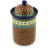 11-inch Stoneware Jar with Lid - Polmedia Polish Pottery H4157G