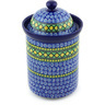 11-inch Stoneware Jar with Lid - Polmedia Polish Pottery H4158G