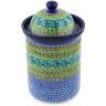 11-inch Stoneware Jar with Lid - Polmedia Polish Pottery H4159G