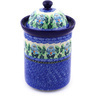 11-inch Stoneware Jar with Lid - Polmedia Polish Pottery H5591E