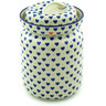 11-inch Stoneware Jar with Lid - Polmedia Polish Pottery H6087H