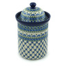 11-inch Stoneware Jar with Lid - Polmedia Polish Pottery H6162A