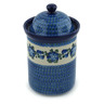 11-inch Stoneware Jar with Lid - Polmedia Polish Pottery H6708B