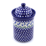 11-inch Stoneware Jar with Lid - Polmedia Polish Pottery H8329B