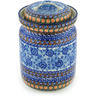 11-inch Stoneware Jar with Lid - Polmedia Polish Pottery H8630G