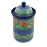 11-inch Stoneware Jar with Lid - Polmedia Polish Pottery H8721A
