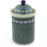 11-inch Stoneware Jar with Lid - Polmedia Polish Pottery H9862E