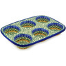 11-inch Stoneware Muffin Pan - Polmedia Polish Pottery H2154D