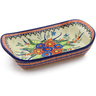 11-inch Stoneware Platter with Handles - Polmedia Polish Pottery H0879K