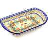 11-inch Stoneware Platter with Handles - Polmedia Polish Pottery H2082G