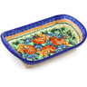 11-inch Stoneware Platter with Handles - Polmedia Polish Pottery H2294G