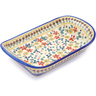 11-inch Stoneware Platter with Handles - Polmedia Polish Pottery H2596J