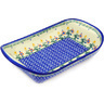 11-inch Stoneware Platter with Handles - Polmedia Polish Pottery H3499E