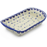11-inch Stoneware Platter with Handles - Polmedia Polish Pottery H6556F