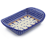 11-inch Stoneware Platter with Handles - Polmedia Polish Pottery H8774E