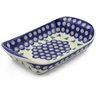 11-inch Stoneware Platter with Handles - Polmedia Polish Pottery H8775E