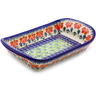 11-inch Stoneware Platter with Handles - Polmedia Polish Pottery H9038I